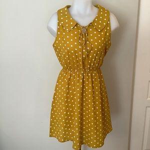SM Woman Mustard Pokadot  Mini Dress Small Medium